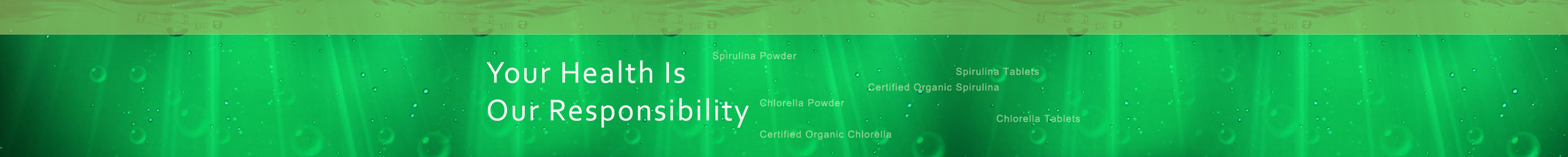Spirulina - your future, our responsibility