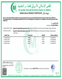 Ifanca Halal Product Certificate